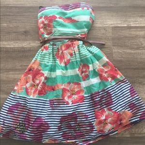 Adorable Strapless Spring Dress - ModCloth